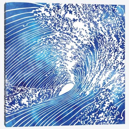 Blue Wave II Canvas Print #SRN3} by sirenarts Canvas Art