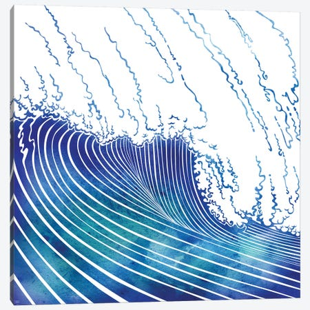 Wave Canvas Print #SRN46} by sirenarts Canvas Artwork