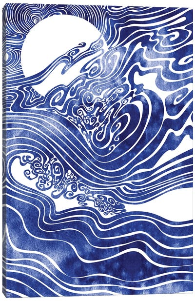 Churn The Deep Canvas Art Print