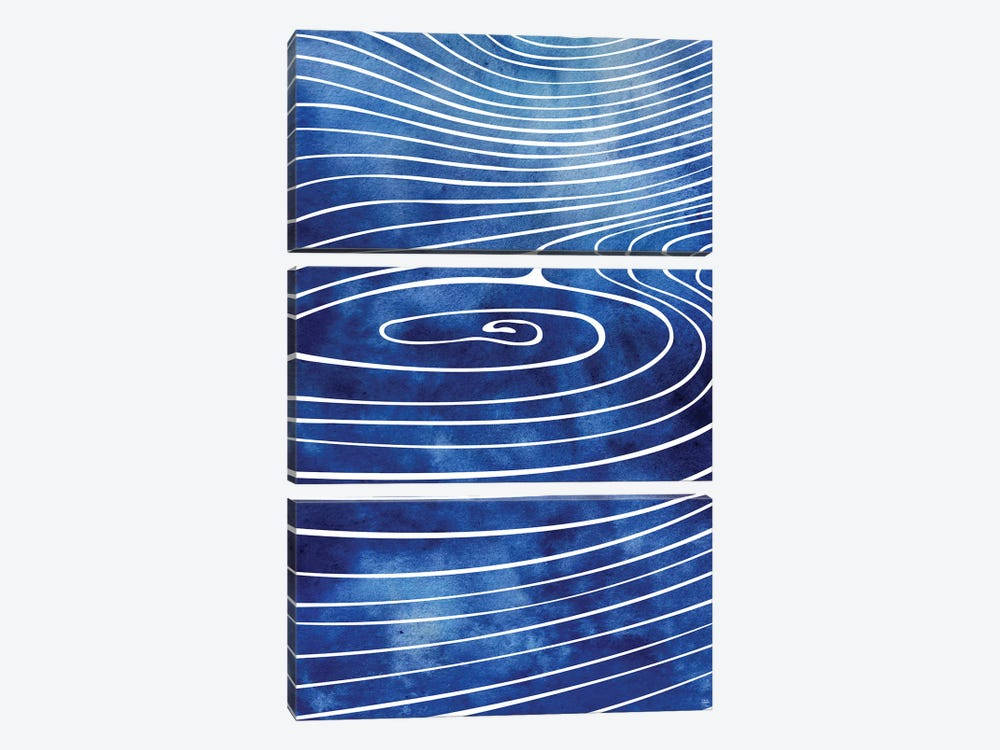 Tide XVII by sirenarts 3-piece Canvas Print