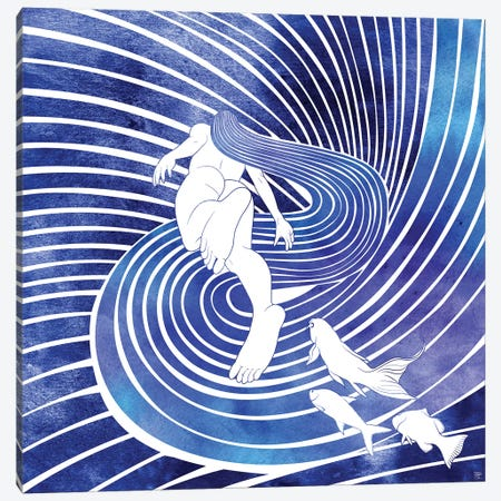Leagore Canvas Print #SRN88} by sirenarts Canvas Print