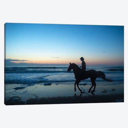 A Cowboy On Virginia Beach At Sunrise Canvas Print #SRR37} by Joel Sartore Canvas Print