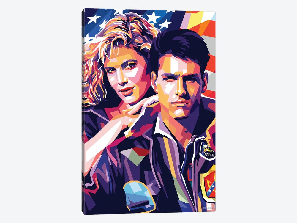 Tom Cruise And Kelly Mcgillis - Top Gun by Stars On Art 1-piece Canvas Artwork