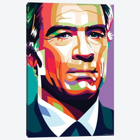 Tommy Lee Jones Canvas Print #SRT116} by Stars On Art Canvas Art Print
