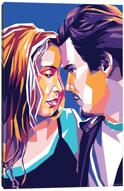 Ethan Hawke and Julie Delpy In ''Before Sunrise'' Canvas Art Print