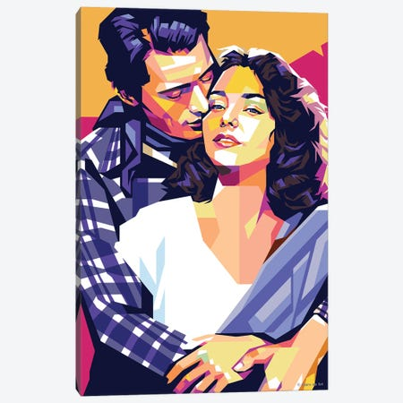 """Gregory Peck and Jennifer Jones In """"Duel In the Sun"""" Canvas Print #SRT155} by Stars On Art Canvas Art Print"""