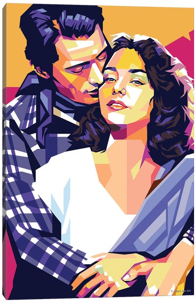 """Gregory Peck and Jennifer Jones In """"Duel In the Sun"""" Canvas Art Print"""