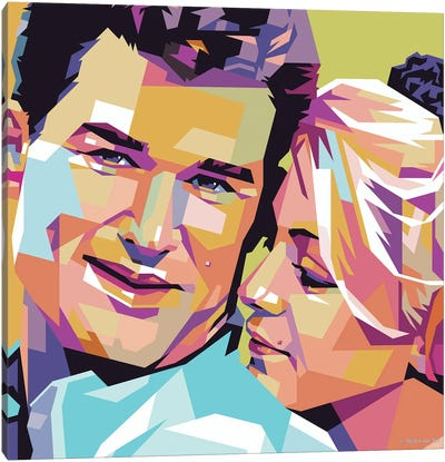Kurt Russell and Goldie Hawn In ''Swing Shift'' Canvas Art Print