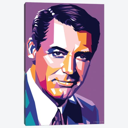 Cary Grant V Canvas Print #SRT16} by Stars On Art Art Print