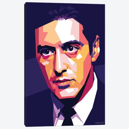 Al Pacino Canvas Print #SRT1} by Stars On Art Canvas Print