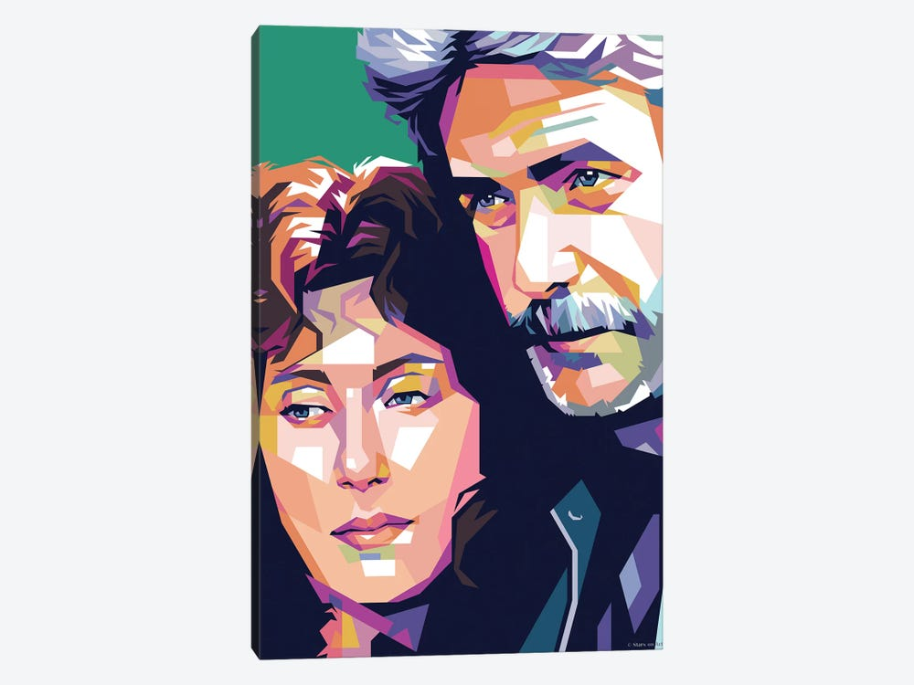 Cher And Sam Elliot - Mask by Stars On Art 1-piece Canvas Artwork
