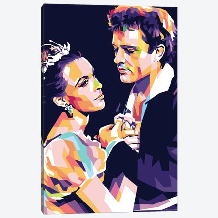 Claire Bloom - Richard Burton - Hamlet 1953 Canvas Print #SRT24} by Stars On Art Canvas Art