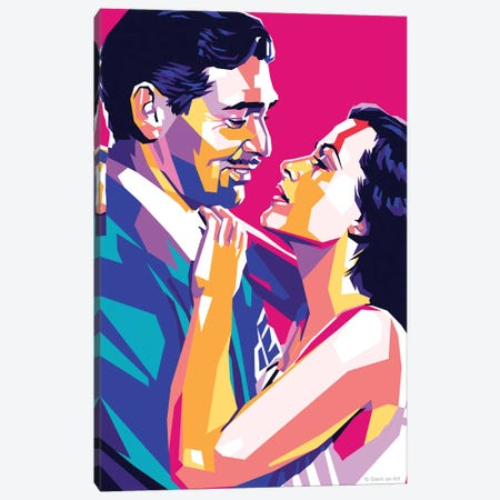 Clark Gable - Hedy Lamarr - Comrade X 1940 Canvas Print #SRT26} by Stars On Art Canvas Wall Art