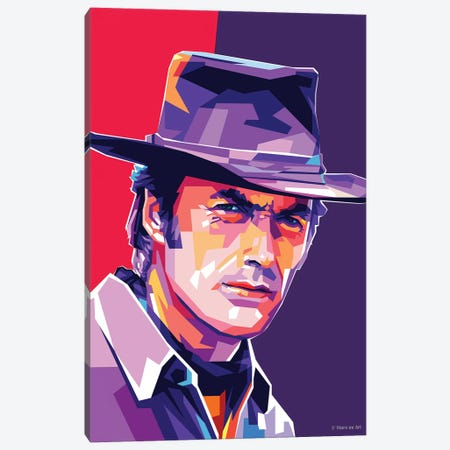 Clint Eastwood Canvas Print #SRT30} by Stars On Art Canvas Wall Art