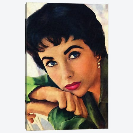 Elizabeth Taylor Canvas Print #SRT36} by Stars On Art Canvas Art Print