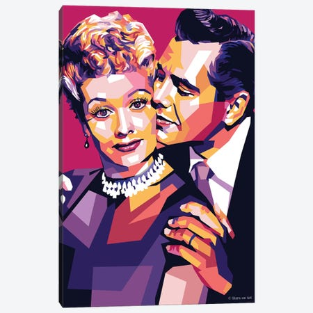 Lucille Ball And Desi Arnaz Canvas Print #SRT77} by Stars On Art Canvas Print
