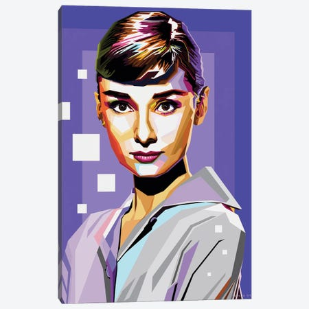 Audrey Hepburn IV Canvas Print #SRT7} by Stars On Art Canvas Artwork