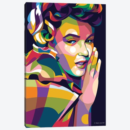 Marilyn Monroe V Canvas Print #SRT85} by Stars On Art Canvas Artwork