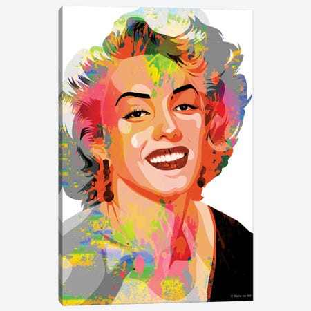Marilyn Monroe VII Canvas Print #SRT87} by Stars On Art Canvas Art