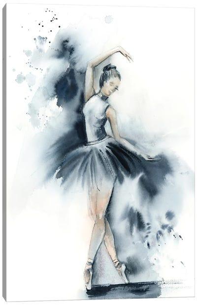 Ballet In Nordic Blue I Canvas Art Print