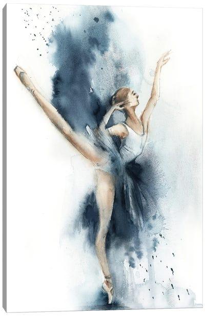Ballet In Nordic Blue III Canvas Art Print