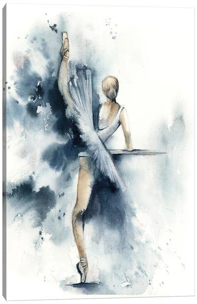 Ballet In Nordic Blue IV Canvas Art Print