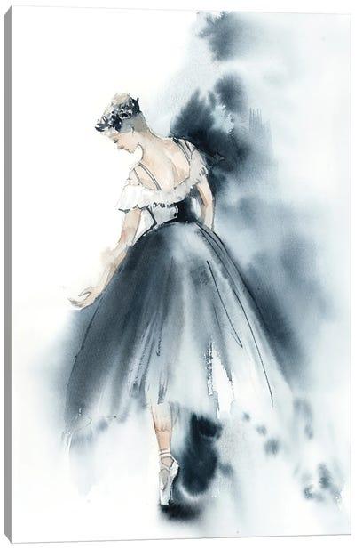 Ballet In Nordic Blue V Canvas Art Print