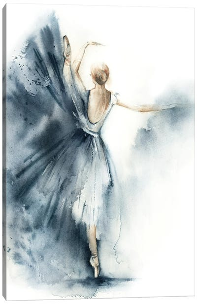 Ballet In Nordic Blue VI Canvas Art Print