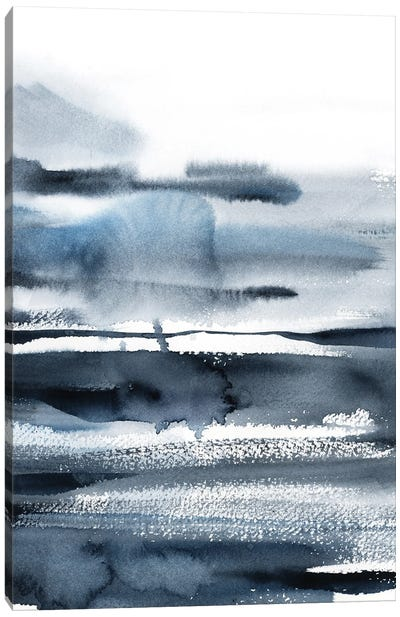 Abstract Landscape In Blue I Canvas Art Print