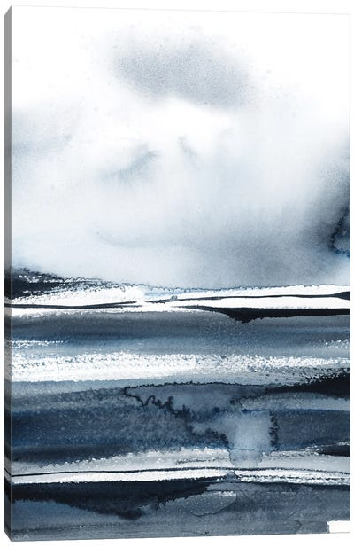 Abstract Landscape In Blue II Canvas Art Print