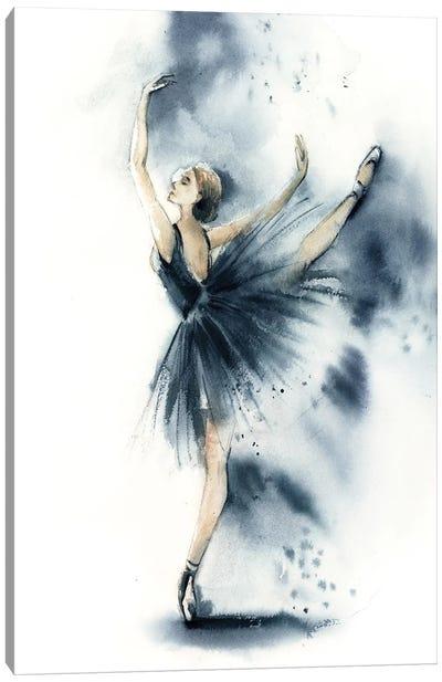 Ballet In Nordic Blue VII Canvas Art Print