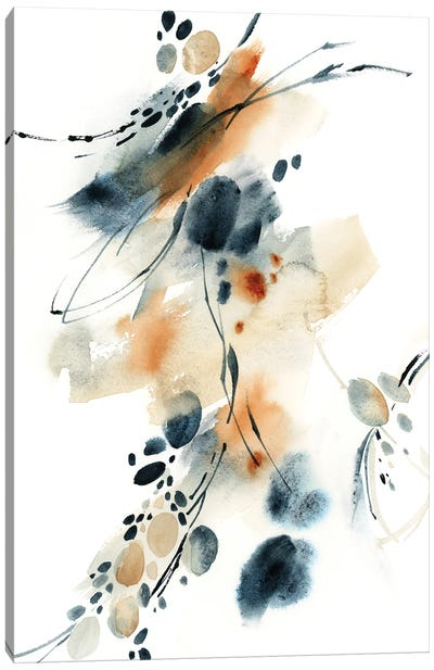 Abstract In Blue And Terracotta III Canvas Art Print