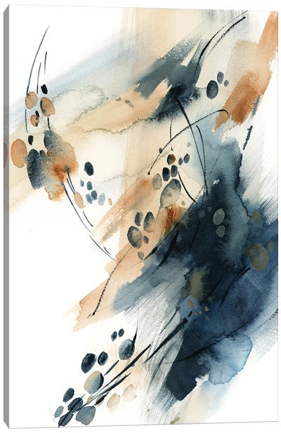Abstract In Blue And Terracotta VII Canvas Art Print