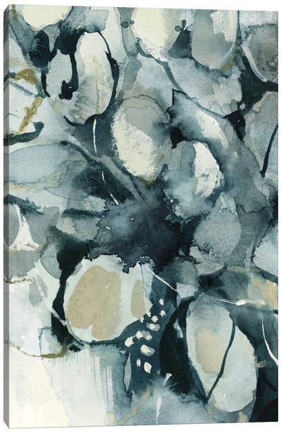 Abstract Leaves In Teal Canvas Art Print