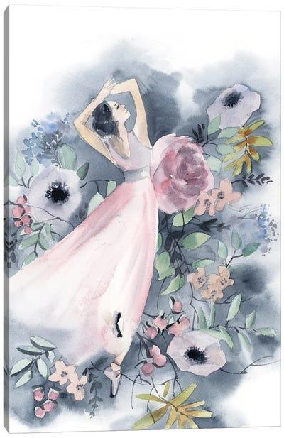 Ballerina And Flowers II Canvas Art Print