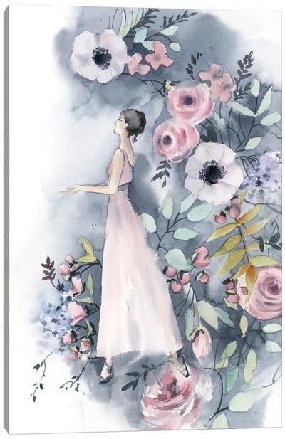 Ballerina And Flowers III Canvas Art Print