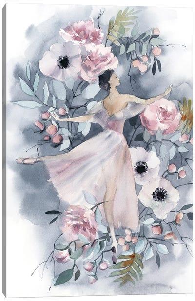 Ballerina And Flowers IV Canvas Art Print