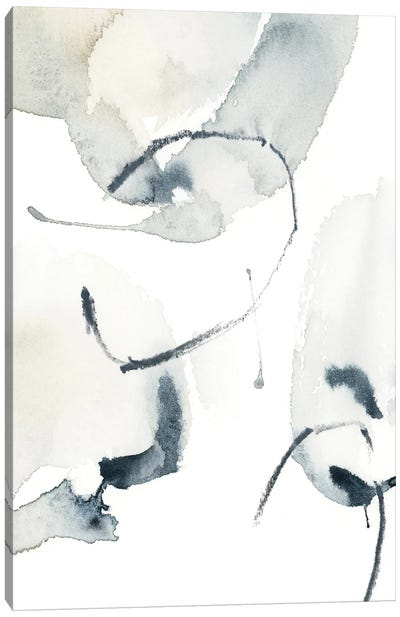 Abstract In Blue Grey And Tan III Canvas Art Print