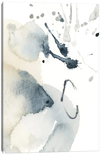 Abstract In Blue Grey And Tan IV Canvas Art Print