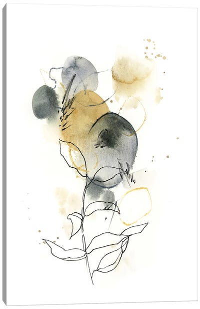 Abstract In Mustard Yellow And Grey Green I Canvas Art Print