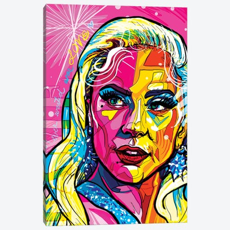 Lady Gaga Canvas Print #SSD10} by Only Steph Creations Canvas Print