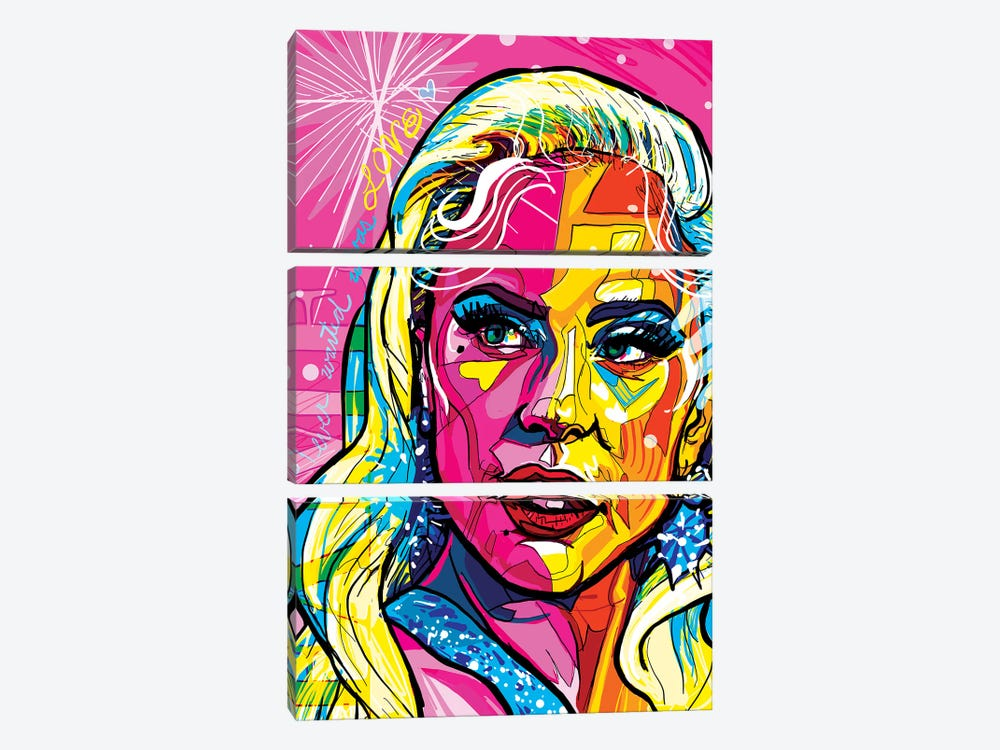 Lady Gaga by Only Steph Creations 3-piece Canvas Art