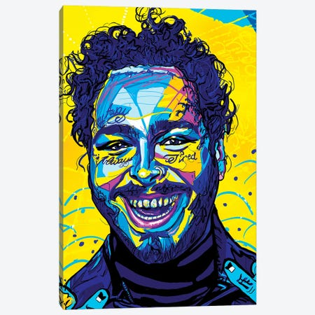 Post Malone Canvas Print #SSD12} by Only Steph Creations Canvas Print