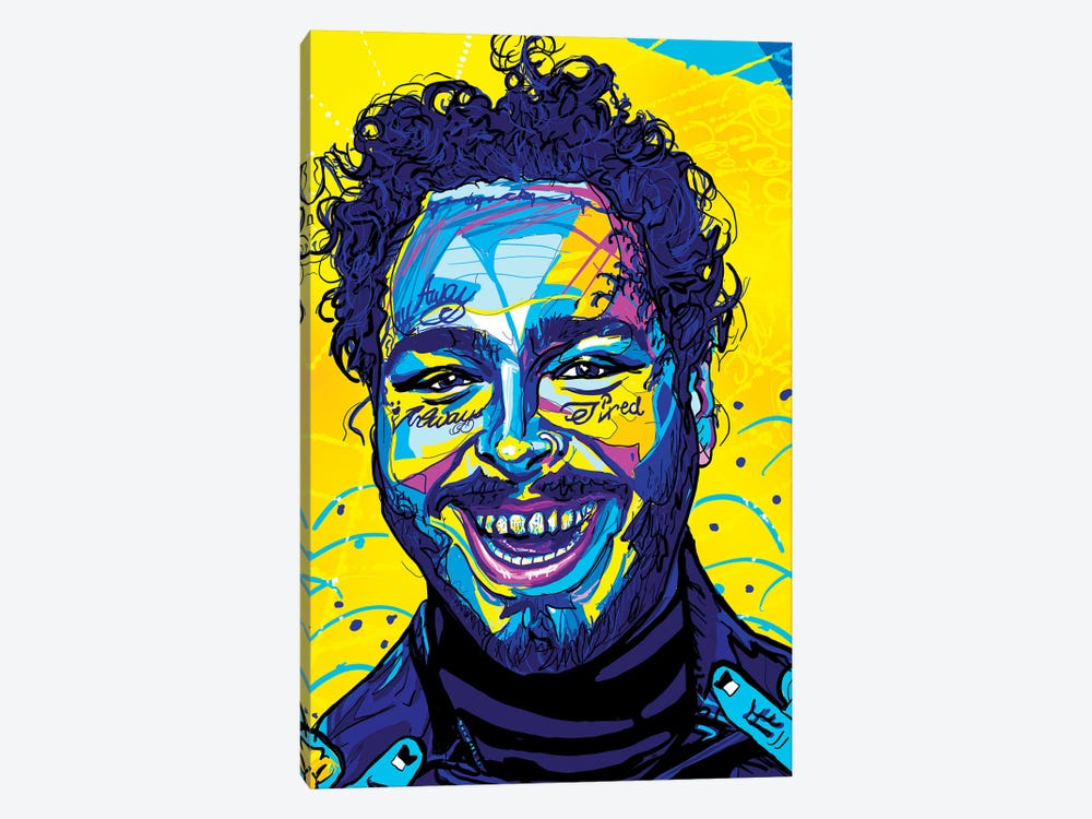 Post Malone by Only Steph Creations 1-piece Canvas Art