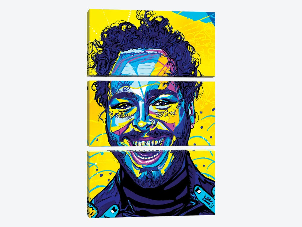 Post Malone by Only Steph Creations 3-piece Canvas Art
