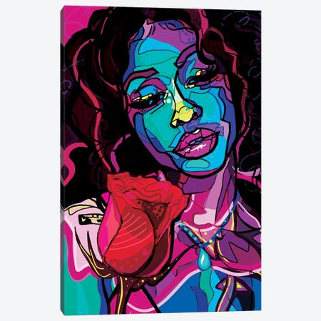 SZA Canvas Print #SSD14} by Only Steph Creations Canvas Wall Art