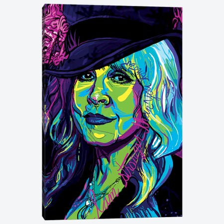 Stevie Nicks Canvas Print #SSD17} by Only Steph Creations Canvas Wall Art
