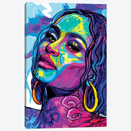 Kehlani Canvas Print #SSD20} by Only Steph Creations Canvas Artwork