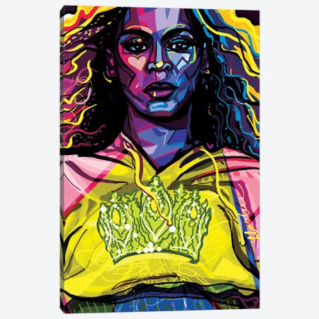 Beyoncé Canvas Print #SSD3} by Only Steph Creations Art Print
