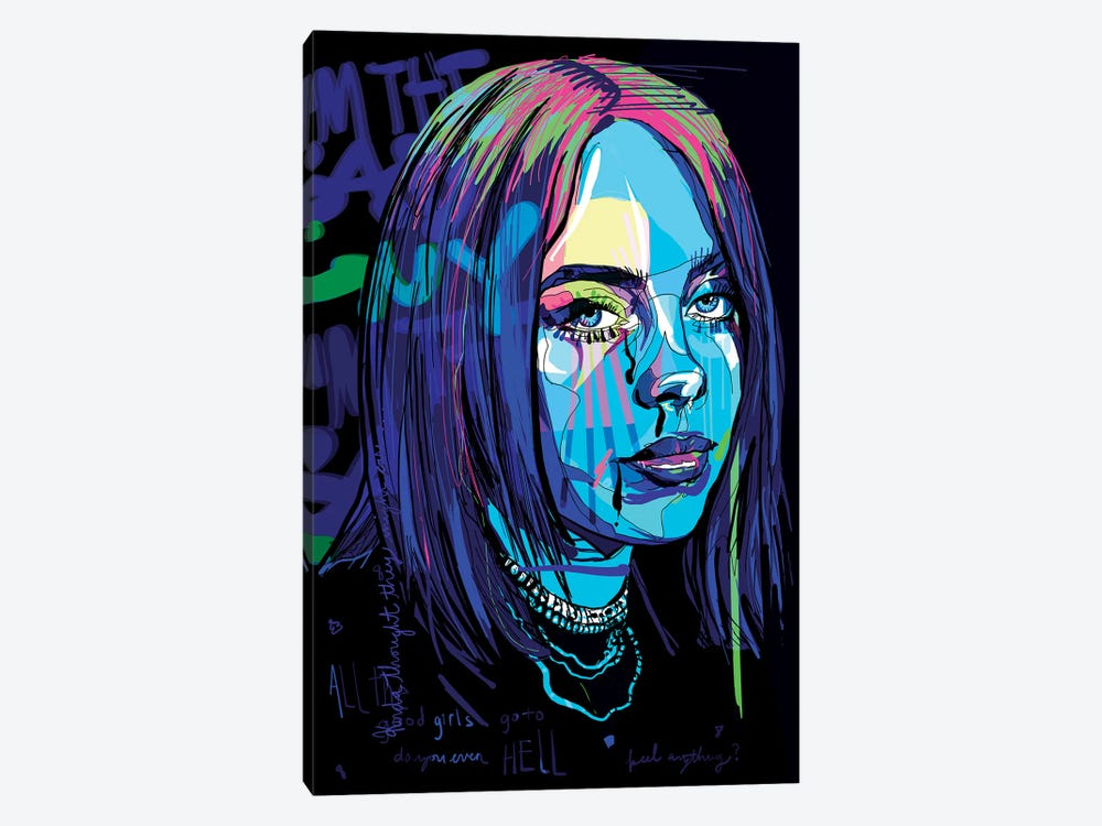 Billie Eilish by Only Steph Creations 1-piece Canvas Artwork